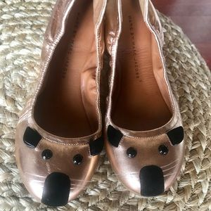 THE MARC JACOBS MOUSE FLATS! Sz 36 rose gold